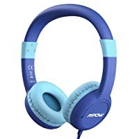 Mpow Kids Headphones, Mic & Volume Control 85dB Limited Hearing Protection, Wired On-Ear Childrens Music Sharing Function, School/Home/Travel, Safe Food Grade Material, iPod iPhone iPad Fire tablet