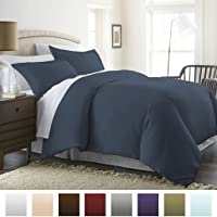 Beckham Hotel Collection Luxury Soft Brushed 2300 Series Microfiber Duvet Cover Set - Hypoallergenic
