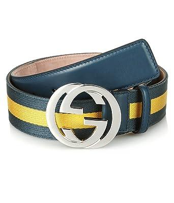 9cb34058257 Amazon.com  Gucci Men s Signature Web Belt with Interlocking G ...