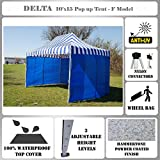 Cheap 10'x15′ Pop up Canopy Wedding Party Tent Gazebo EZ UP Blue Stripe – F Model Commercial Frame By DELTA
