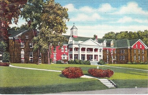 Collectible Vintage Unsent Linen Postcard Mary Lyon Hall Plymouth Teachers College Plymouth New - Hall Plymouth