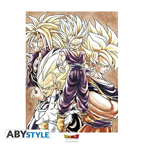 ABYstyle Abysse Corp _ ABYART021Dragon Ball–Collector Artprint Saiyans (50x 40) Abysse Corp_ABYART021