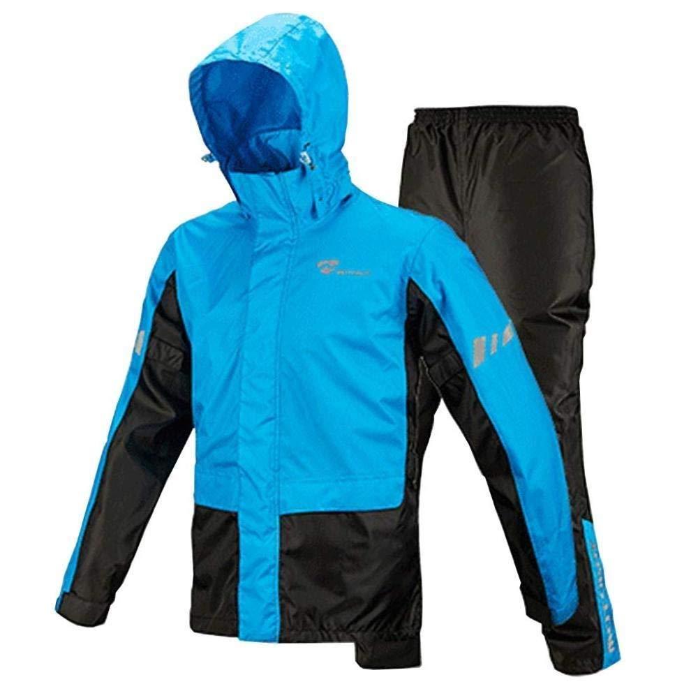 M HONGYU Imperméable pour les hommes imperméable voyage Regatta veste imperméable léger et compressible pour le pantalon et adapté à l'extérieur, le camping