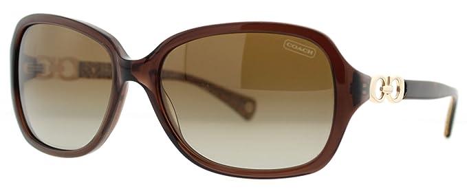 064e5d91fbbd2 Coach HC 8019 (L007 Beatrice) 5035 T5 Brown Womens Polarized Sunglasses   Amazon.co.uk  Clothing