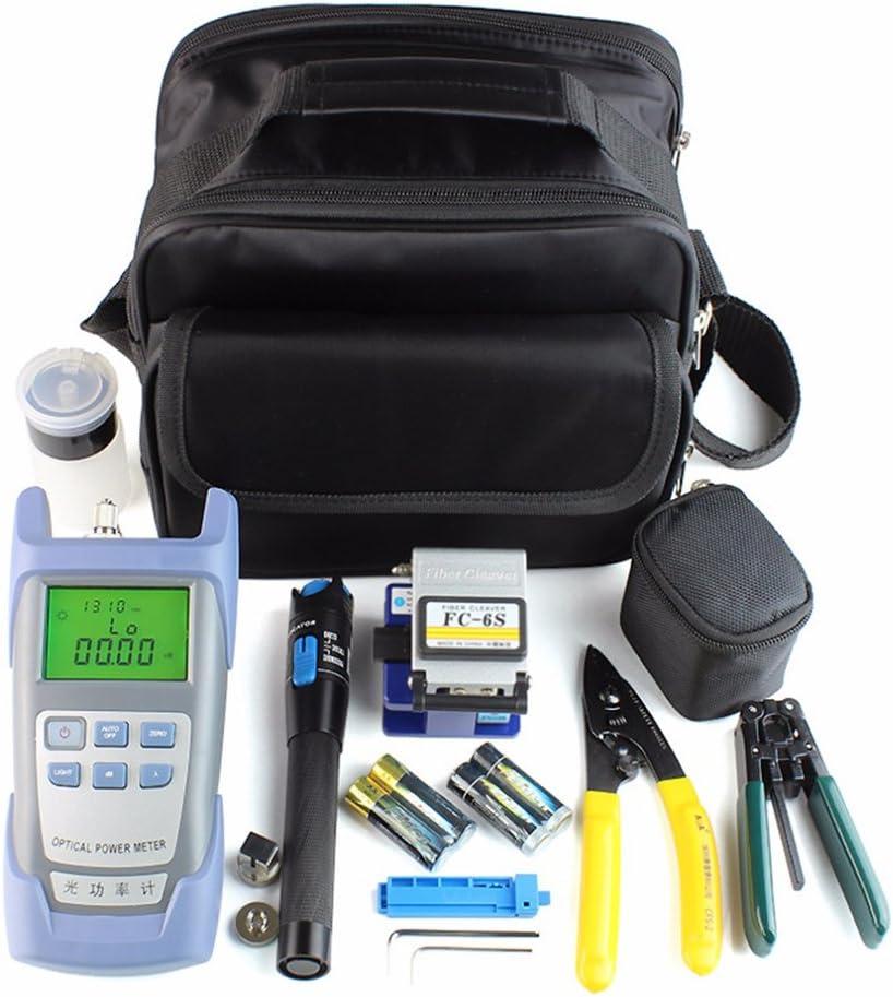 ShenYo FTTH Kit de Herramientas de Fibra óptica, 21 en 1 FC-6S de Fibra de Limpiador, medidor de Potencia óptico y localizador de averías visuales, Show, 21pcs