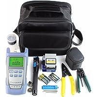 ShenYo FTTH Kit de herramientas de fibra óptica, 21 en 1 FC-6S cortadora de fibra óptica Peel medidor de potencia óptica…