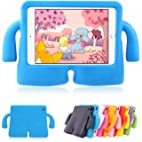Mini iPad 1 2 3 4 Cases MUZE Cute Cartoon Light Weight Protection Shock Proof Drop-proof Durable EVA Foam Children Case Cover for Apple iPad Mini 1 2 3 4 Generation Protective Stand Case 7.9 Inch (Blue)
