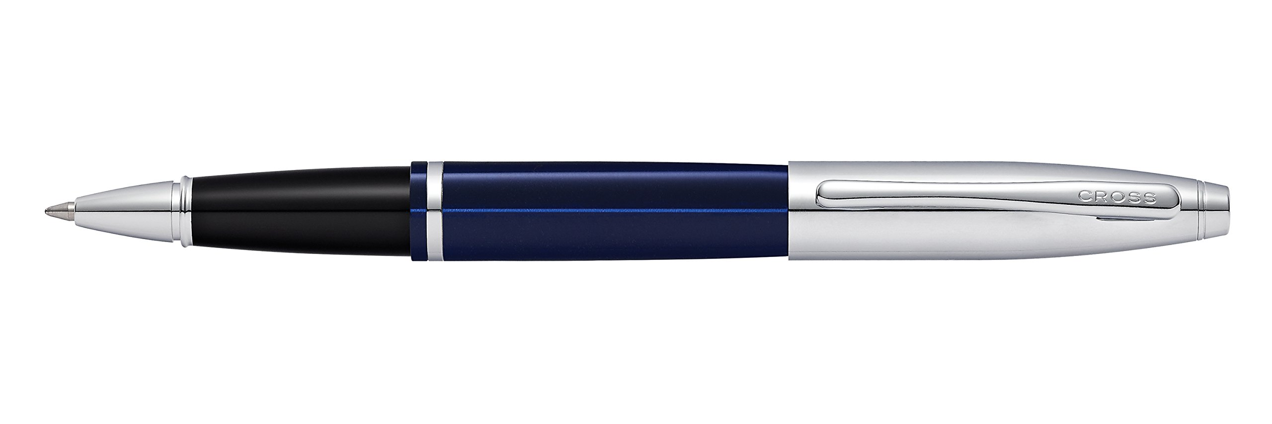 Engraved / Personalized Cross Calais 'Chrome/Blue Lacquer' Selectip Rollerball Pen with Gift Box - Custom Engraving AT0115-3 by Marketfair (Image #1)