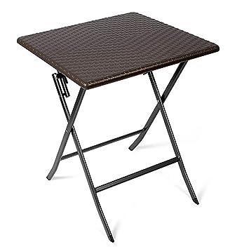 NAN Table d\'appoint - Table de Jardin carrée en rotin - Table en ...
