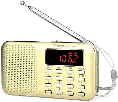 Amazon.com: TIVDIO L-218 Radio transistor AM/FM portá ...