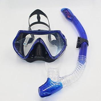 Profesional buceo snorkeling mascara Set fácil respiración gafas de natación, de vidrio templado Anti-