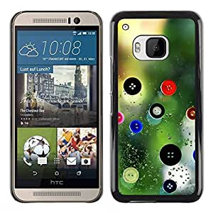 Paccase / SLIM PC / Aliminium Casa Carcasa Funda Case Cover para - Designer Design Clothes Nature Button - HTC One M9