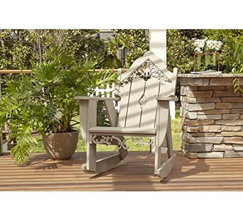 Uwharrie Chair Co V112-31-Twilight Blue-Dist-Pine Veranda Rocker, Twilight Blue-Distressed