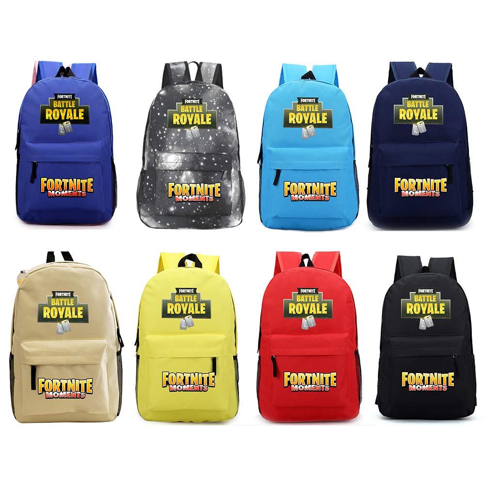 1 mochila con estampado de Fortnite, diseño de batalla real para la escuela, camping, senderismo y lote para estudiantes.: Amazon.es: Oficina y papelería