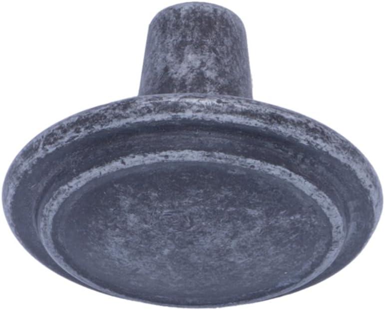 Basics Lot de 25 boutons de placard droits Motif anneau Diam/ètre Nickel satin/é 3,17 cm