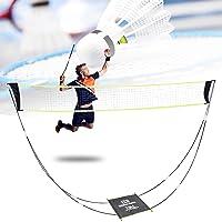 Badmintonnet, draagbaar badmintonnet voor tuin en standaard, draagtas, volleybalnet voor binnen en buiten, strandsport…