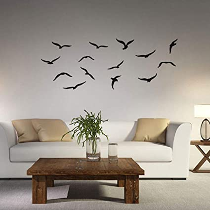 Amazon 2 Pcs Sea Birds Wall Decal Mild Art Paper DIY