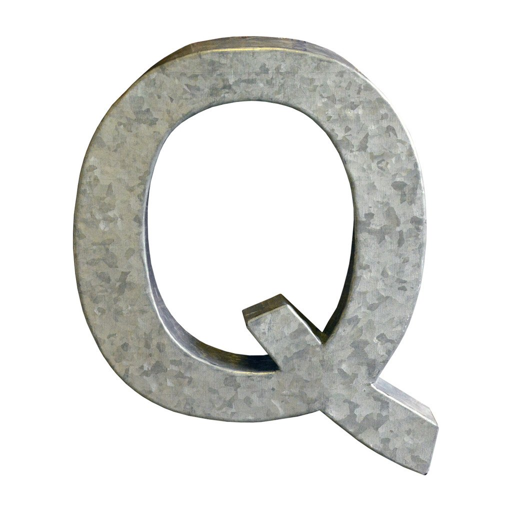 Modelli Creations Alphabet Letter Q Wall Decor, Zinc
