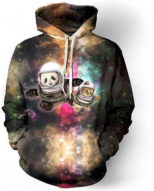 Emlyn Adrian Galaxy Deer Hoodies Men Women 3D Sweatshirts Hooded Coat Printed Hoodie