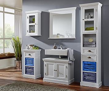Bagni Per Case Di Campagna : Sam® set di mobili da bagno malibu 5tlg laccato legno di paulonia