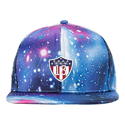 Amazon.com  Sdfwe Dfead Morgan  13 Uswnt Purple Galaxy Snapback Hat ... eadaa2bd490