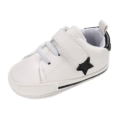 Zapatos de bebé,Minuya Zapatos de Niña Zapatillas de Deporte, Suela Suave Zapatillas Antideslizantes