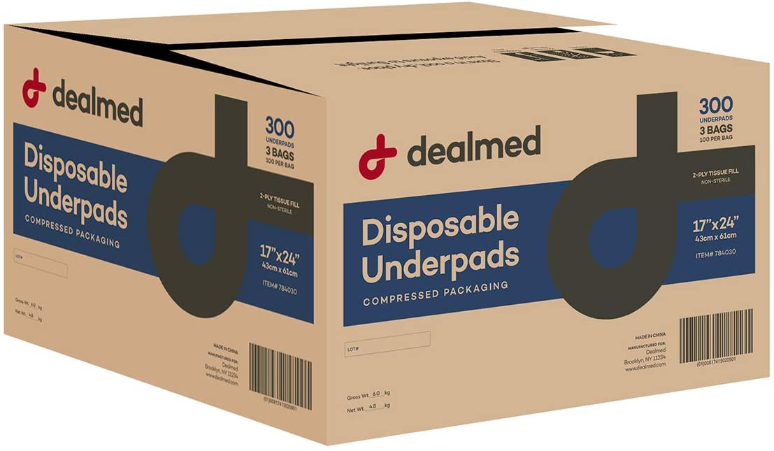 Dealmed Disposable Underpads Non-Sterile Fill 24 2-Ply Tissue Latest item Max 48% OFF