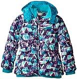 Roxy Big Girls' Shredding Hooded Coat, Lake Blue, 10