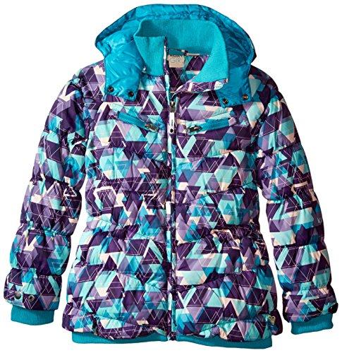 Roxy Big Girls' Shredding Hooded Coat, Lake Blue, 10 by Roxy