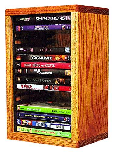 The Wood Shed 110-1 DVD Solid Oak DVD Storage Cabinet, Honey