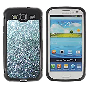 Lady Case@ Glitter Silver Sparkling Bling Platinum Rugged Hybrid Armor Slim Protection Case Cover Shell For S3 Case ,I9300 Case Cover ,I9308 case ,Leather for S3 ,S3 Leather Cover Case