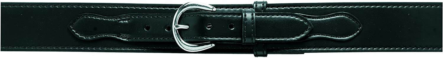 Safariland 146V Border Patrol, Style Duty Belt, Lined with Velcro (Hook), Black, Plain with Brass Buckle for 36-Inch Waist