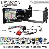 Volunteer Audio Kenwood DNX874S Double Din Radio Install Kit with GPS Navigation Apple CarPlay Android Auto Fits 2009-2010 Hyundai Sonata