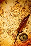 quill steam - Yeele 6x9ft Old Compass Vintage World Map Background for Photography Retro Nostalgic Style Goose Quill Pen Photo Backdrop Boy Kid Man Adult Artistic Portrait Booth Shoot Studio Props Wallpaper