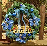 Christmas Garland for Stairs fireplaces Christmas Garland Decoration Xmas Festive Wreath Garland with Christmas Wreath of Christmas tree,60cm