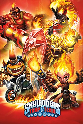 "Skylanders Trap Team - Gaming Poster / Print (Fire Montage) (Size: 24"" x 36"")"