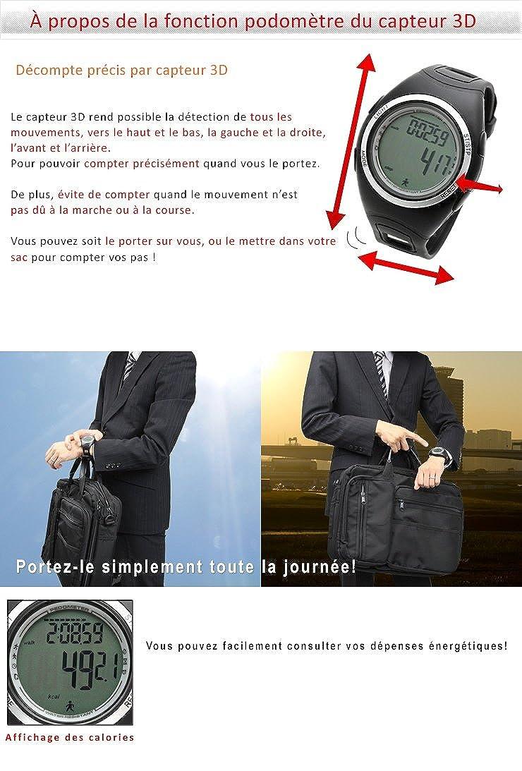 [Lad Weather] podómetro Sensor de acelerómetro 3d Alarm cronómetro ejercicio Jogging marca hombre deportivo reloj: Amazon.es: Relojes