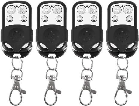 4pcs 433mhz llavero de control remoto, reemplazo universal eléctrico clonación control remoto inalámbrico llavero para puerta de garaje