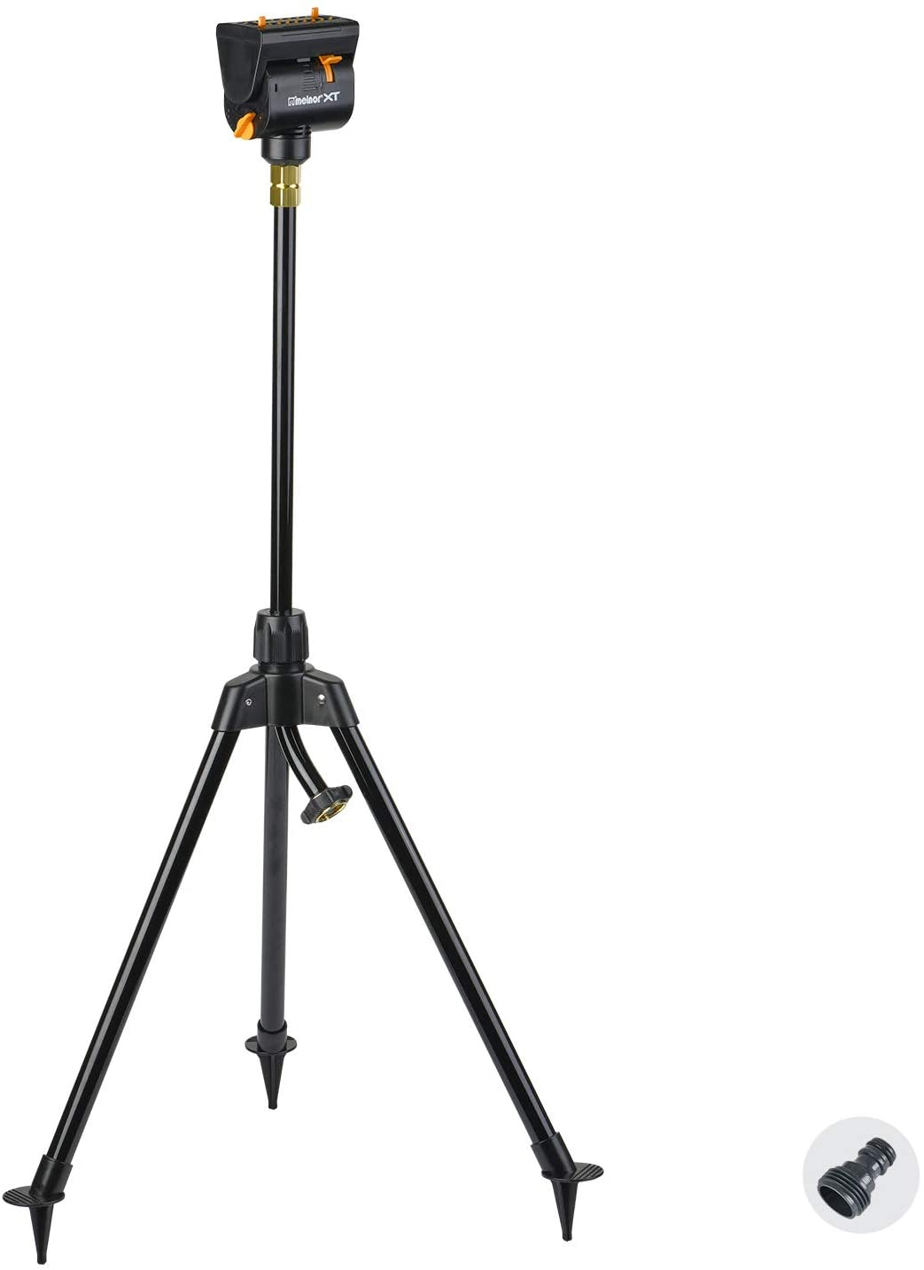 Melnor 65115-AMZ MiniMax Turbo Oscillating Sprinkler on Tripod with QuickConnect Product Adapter Amazon Bundle