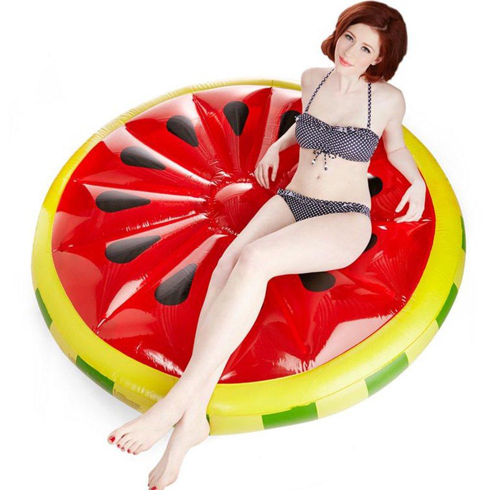 Riesiges Aufblasbares Wassermelone Luftmatratze Spielzeug Aufblasbar Für Pool PVC Wasserspielzeug Pusheng (Rund Wassermelone)