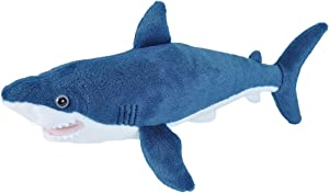 Wild Republic Mako Shark Plush, Stuffed Animal, Plush Toy, Gifts for Kids, Cuddlekins 13 inches