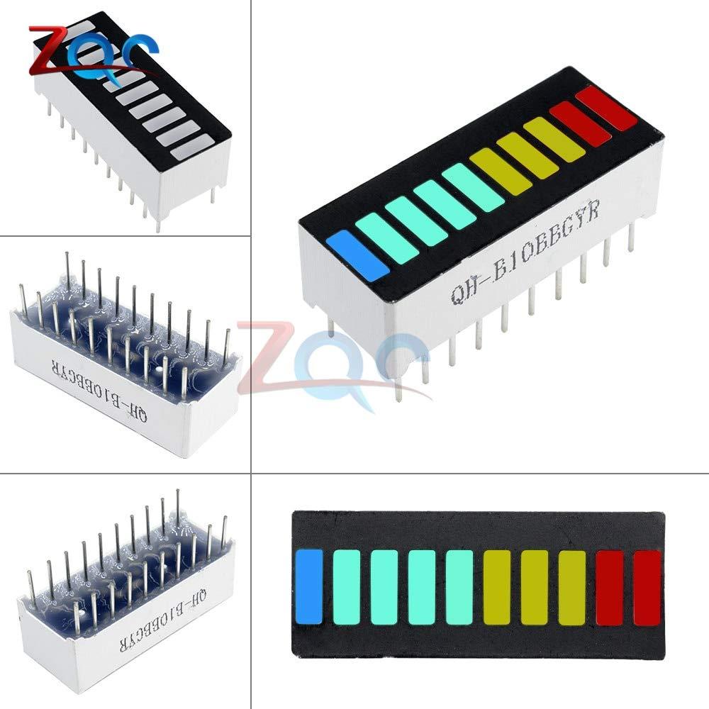 50PCS 10 Segment Digital Red LED Bar Graph Display Ultra Bright