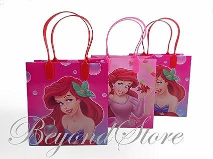 1db288fac7b Amazon.com  Disney Little Mermaid Party Favor Goodie Small Gift Bags ...