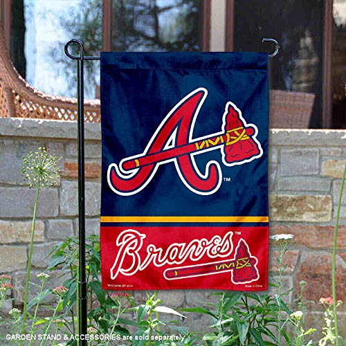 (WinCraft Atlanta Braves Double Sided Garden Flag)