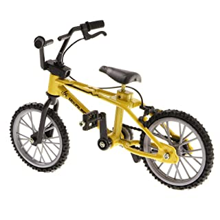 Fenteer Finger Mountain Bike Finger Finger Bicycle, Cool Boy Toys Creative Game Gift for Kids Boys and Girls, 1:24 Scale, Yellow