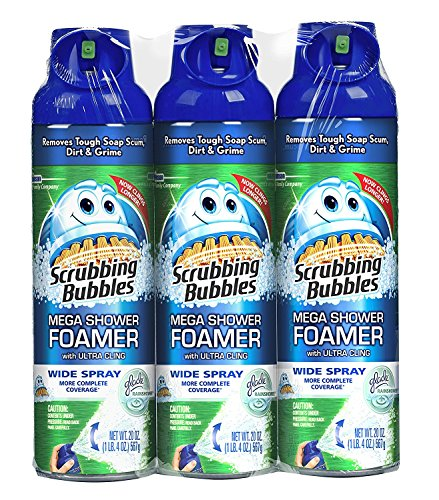 Scrubbing Bubbles Mega Shower Foamer With Ultra Cling Bulk Bathroom Cleaner 20 Ounce (Pack of 3) - Purpose Bathroom Cleaner