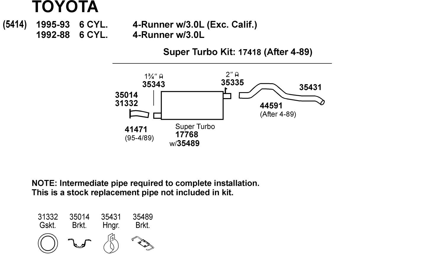 Dynomax 17418 Exhaust System Automotive Toyota Pickup Diagram Further 1994 22re Fuel