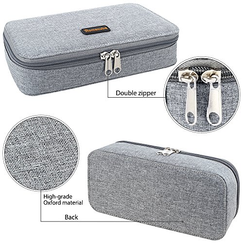 Homecube Pencil Case, Big Capacity Pen Case Desk Organizer with Zipper for School & Office Supplies - 8.74x4.3x2.17 inches, Gray by Homecube (Image #5)