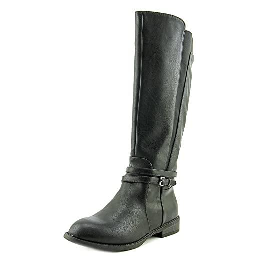Womens Mazza Almond Toe Mid-Calf Fashion Boots Black Size 8.0