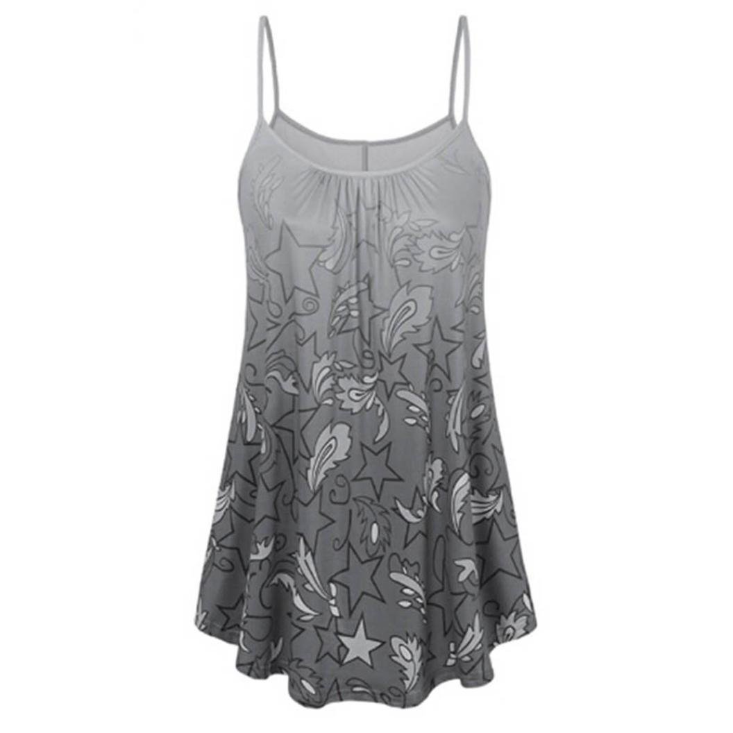 Top SANFASHION Damen Sommer Shirt Sleeveless Weste Tank Casual Tops T-Shirt Bluse